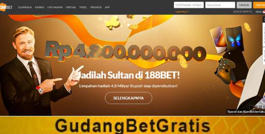 188bet Dapatkan Bonus Rp.140.000.000 Untuk Kemenangan Parlay