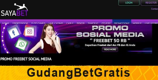 SayaBet- DAPATKAN BONUS FREEBET Rp.50.000