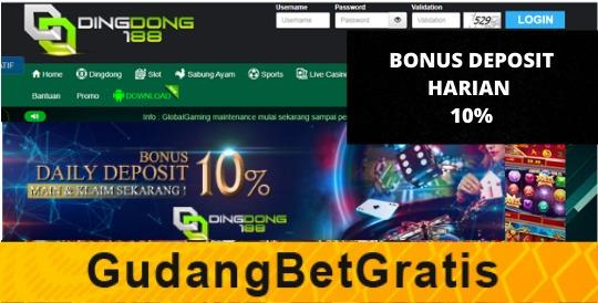 DINGDONG188- BONUS DEPOSIT HARIAN 10%