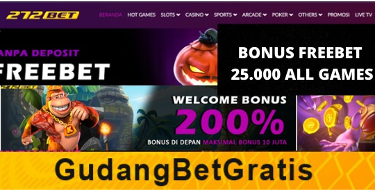 272BET- BONUS FREEBET 25.000 ALL GAMES