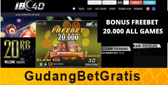 IBC4D- BONUS FREEBET 20.000 ALL GAMES