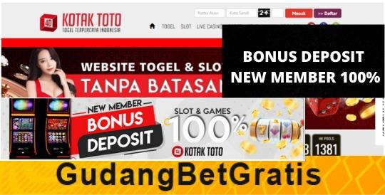 KOTAKTOTO303- BONUS DEPOSIT NEW MEMBER 100%