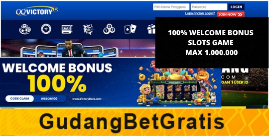 QQVICTORY- 100% WELCOME BONUS SLOTS GAME MAX 1.000.000